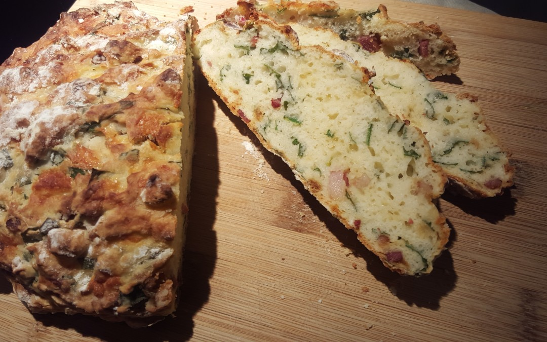 Wild Garlic, Crispy Bacon & Cheddar Bread