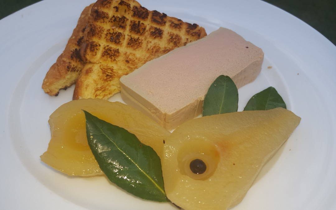 Chicken Liver Parfait with Spiced Pears & Toasted Brioche