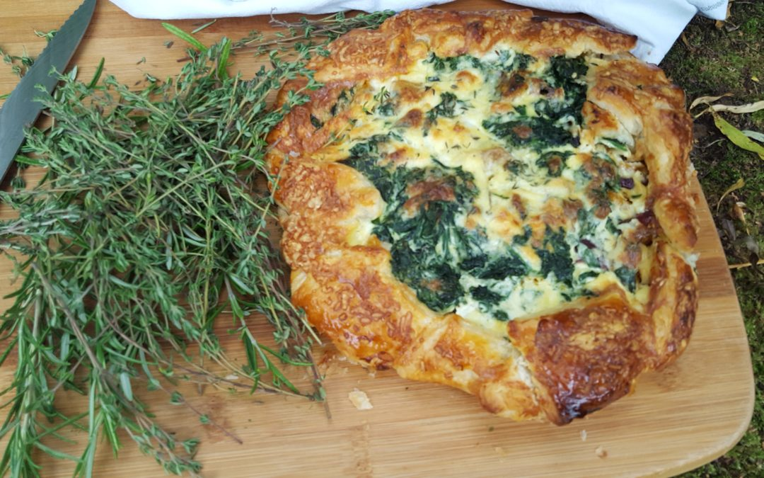 Wild Garlic, Spring Nettle, Roast Red Pepper & Mascarpone Galette