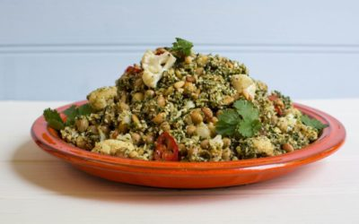 Roast Cauliflower & Chickpea Salad with Fragrant Lebanese Flavours