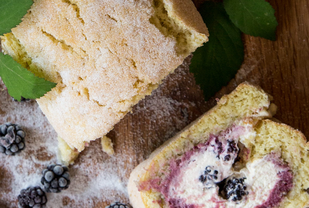 Blackberry Curd & White Chocolate Roulade