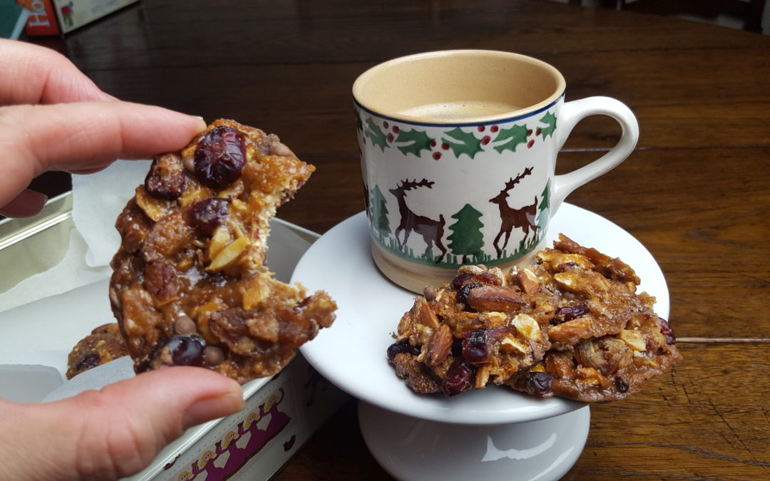 Cranberry, Apricot & Unblanched Almond Florentines