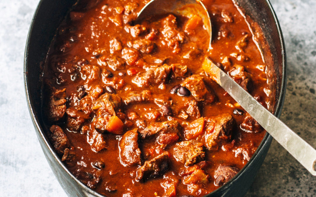 Smokey Chilli Shin of Beef with Guacamole & Lime-Paprika Yoghurt